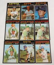 (9) 1971 Topps Baseball Cards