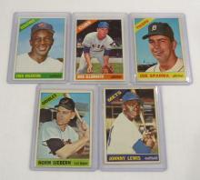 (5) 1966 Topps Baseball Cards