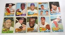 (10) 1965 Topps Baseball Cards