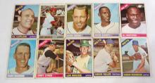 (10) 1966 Topps Baseball Cards