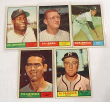(5) 1961 Topps Baseball Cards