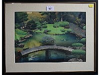 Bakufu Ohno (1888 - 1976) , a wood block print,