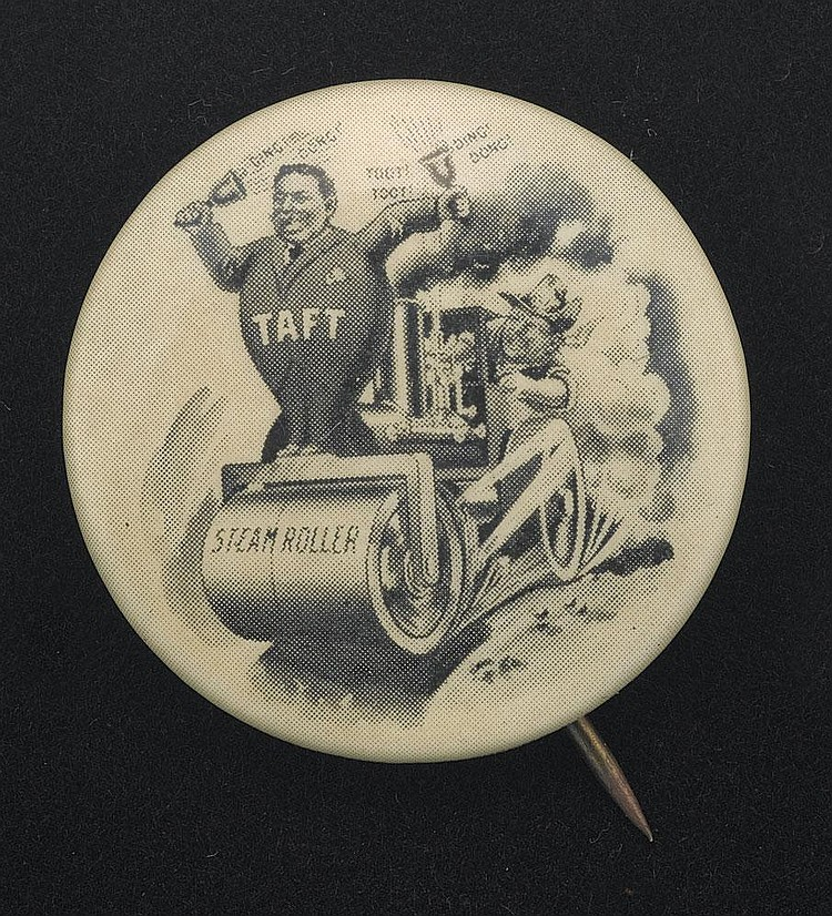 Classic and Extremely Rare 1908 Taft with T.R.