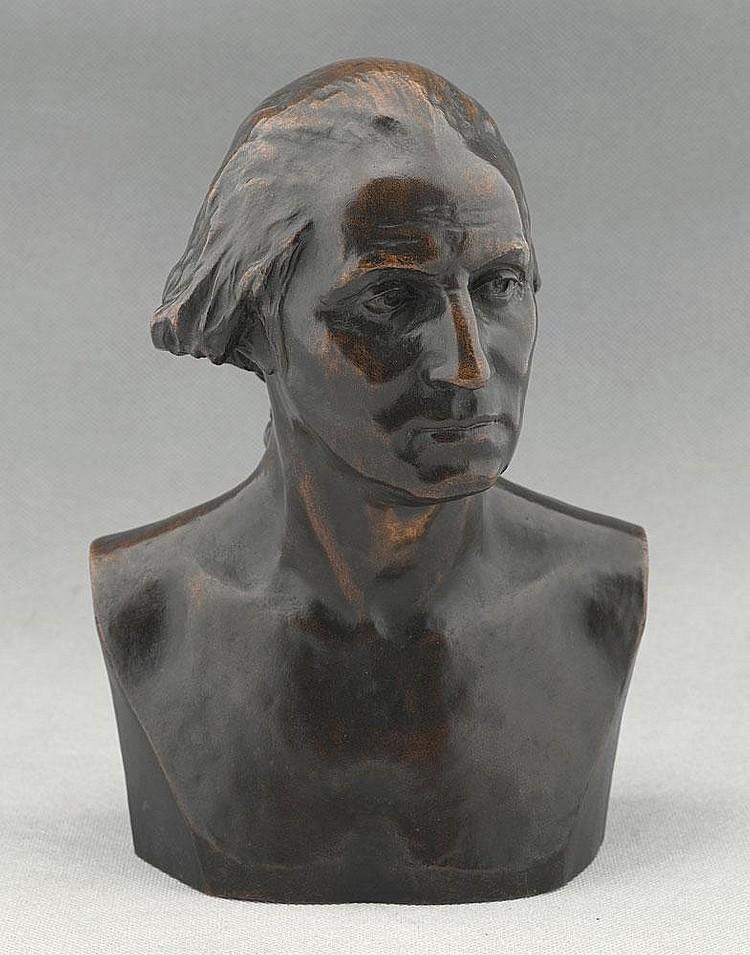1899 Bronze Portrait Bust of George Washington