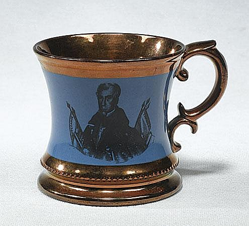 Extremely Rare 1840 William Henry Harrison Copper Luster Cup