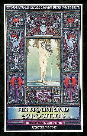 1969 David Byrd Woodstock Concert Poster