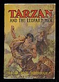 Burroughs Signed Tarzan/Leopard Man 1st Ed, Antonio Edo Mosquera, Click for value