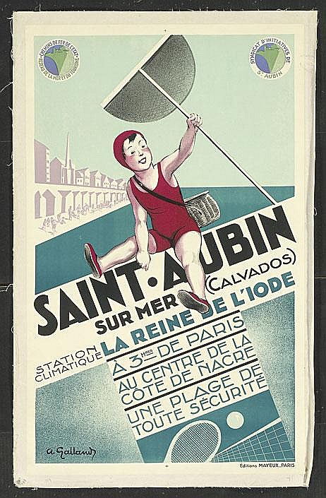 1930s Railway Poster St. Aubins by Galland