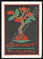 1926 Boschi Luigi  &  Sons Ad Poster - Carbone, Erberto Carboni, Click for value