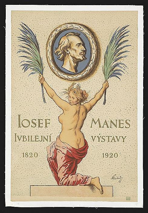 20 Czech Poster 100th Ann. Josef Manes'Birth