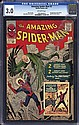1963 Amazing Spider-Man #1  &  #2: CGC 3.5 3.0, Hans Viktor Nilsson, Click for value