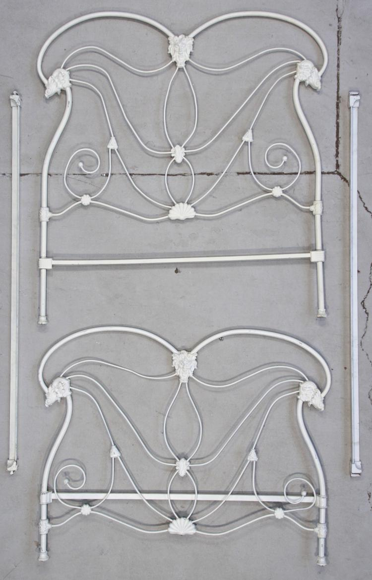 Victorian Cast Iron Beds : Late victorian cast iron bed