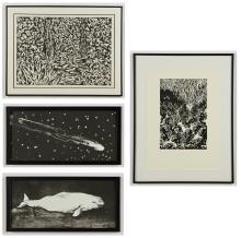 4 Framed Works by Various Artists