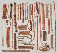 Large Collection of Pre-Columbian Straps and Panels