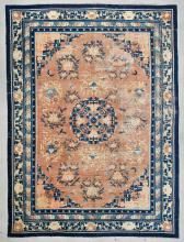 Mansion-Size Antique Chinese Ningxia Rug: 12'2