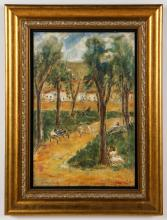 """Victor Manuel (1897-1969) """"In the Park"""""""