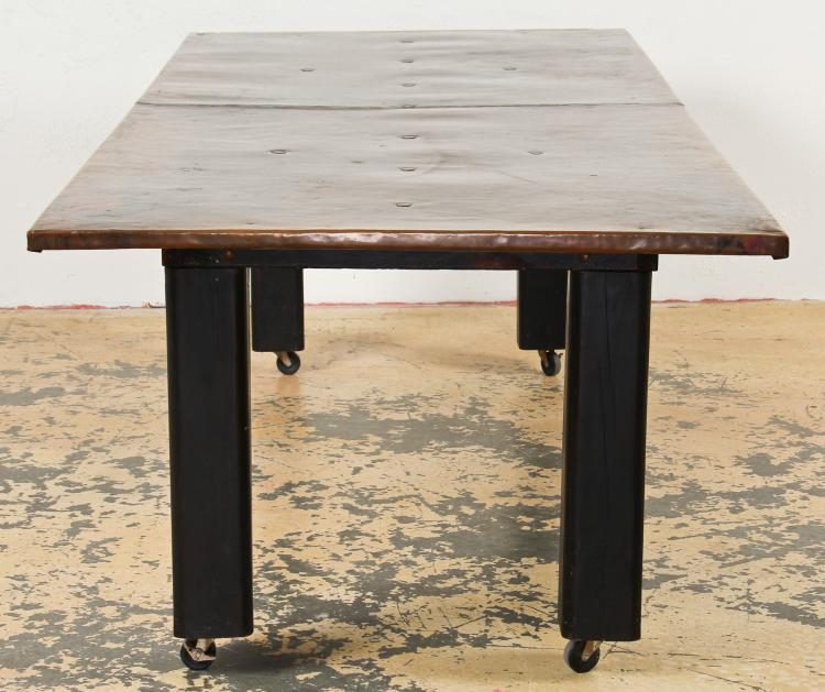 Rustic Artisan 10' Copper Clad Dining Table