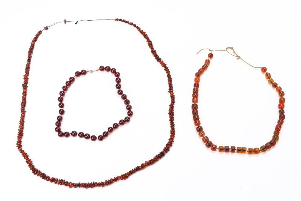 Three Baltic Amber Necklaces