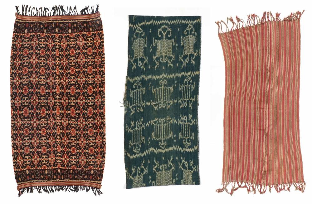 3 Old Indonesian Woven Textiles