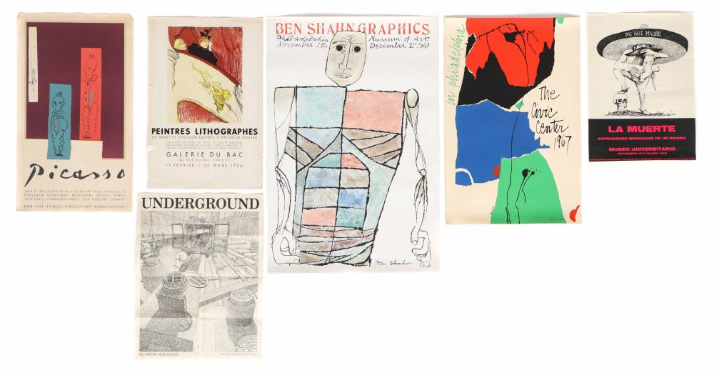 Group of Modern Art and Exhibition Posters