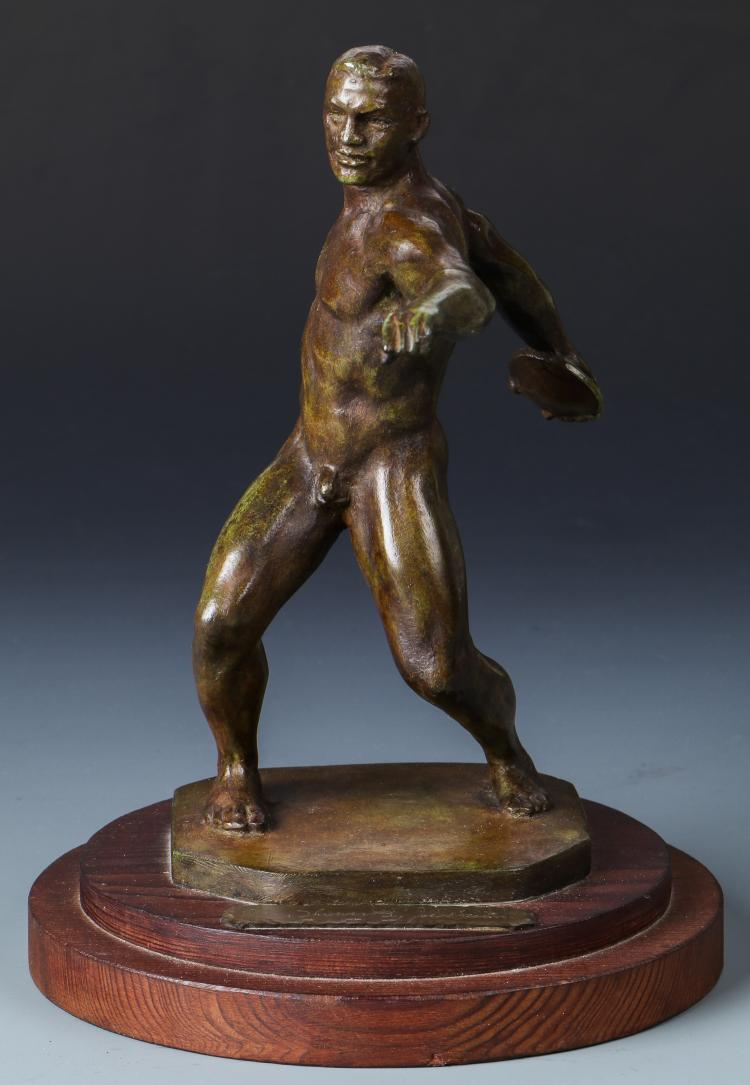 Joe Brown (American, 1909-1985) Bronze Sculpture
