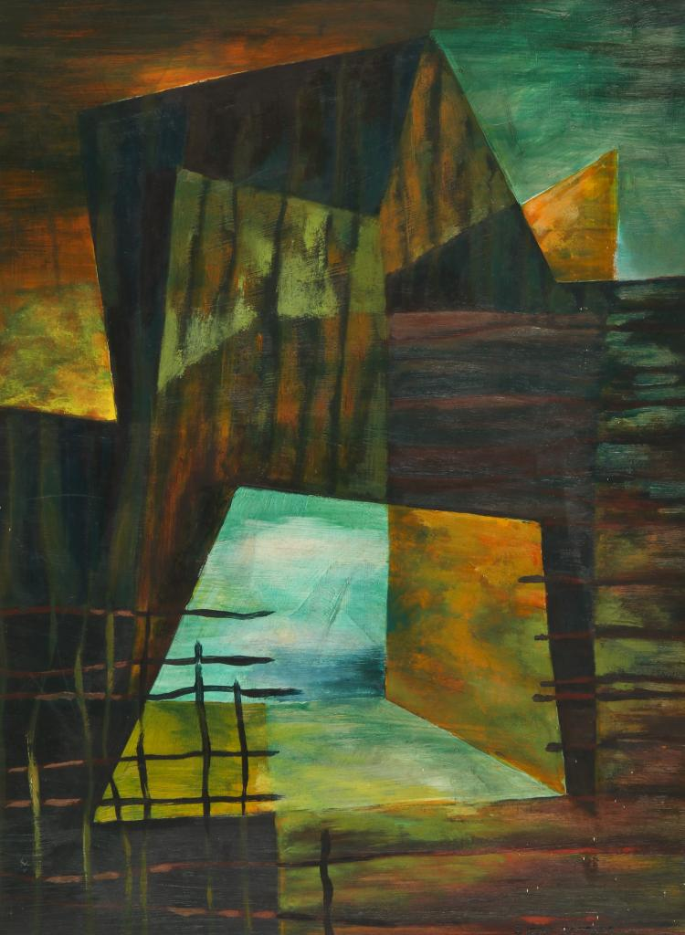 T. Dow Sanders (20th c.) Abstract Painting