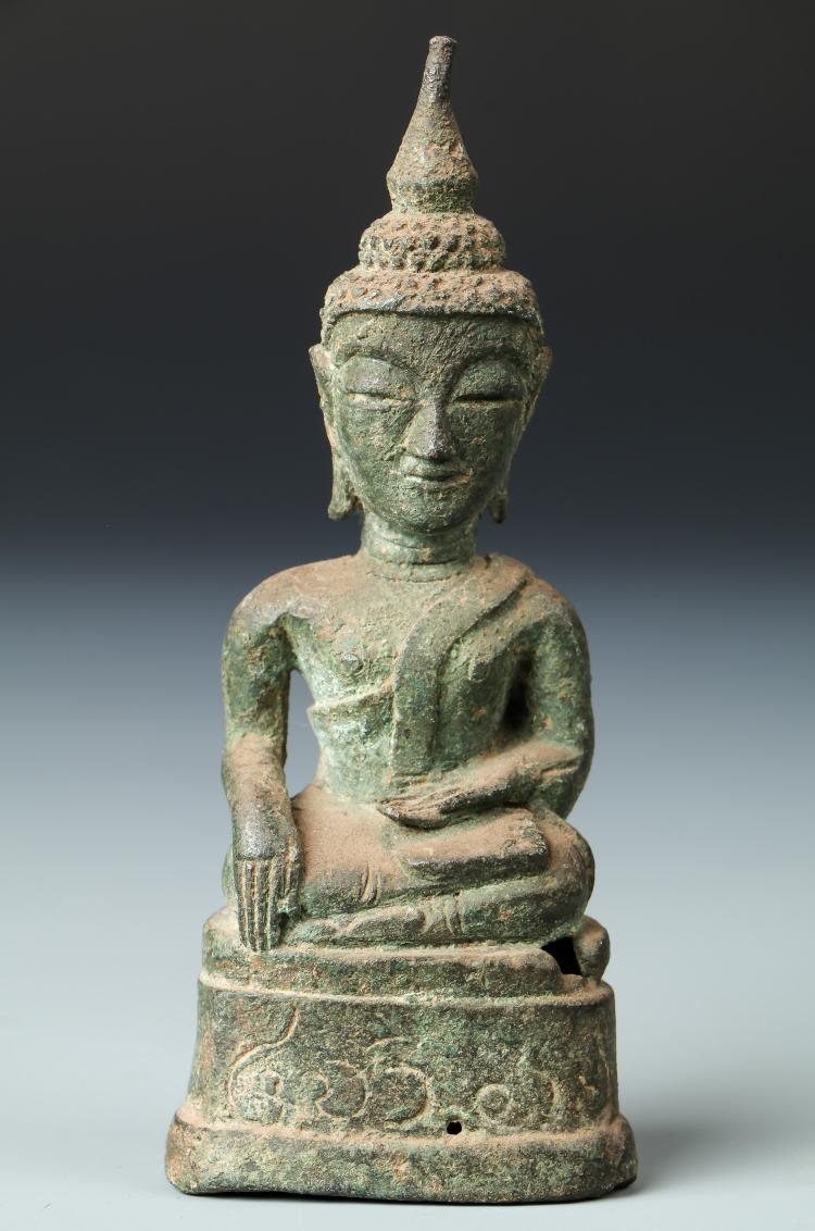 18th C. Bronze Buddha, Laos