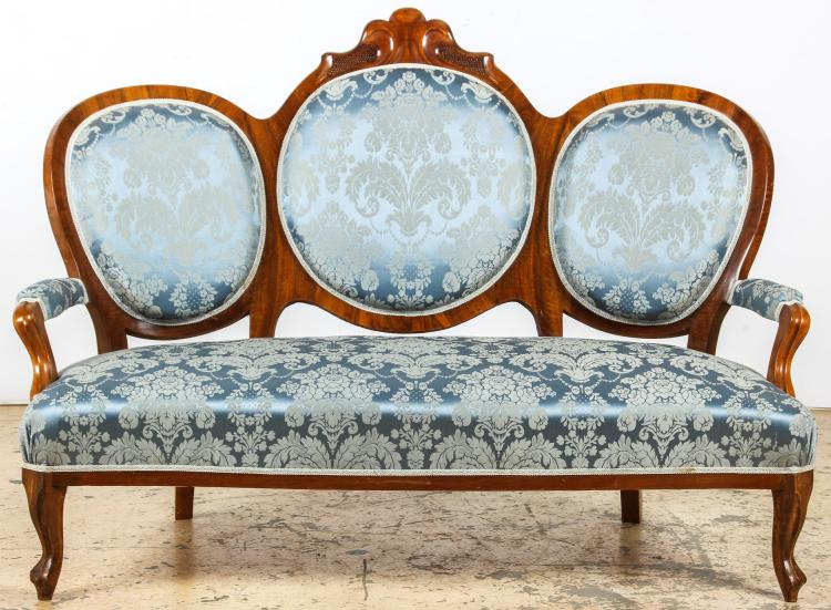 Continental Louis XV Style Fruitwood Settee