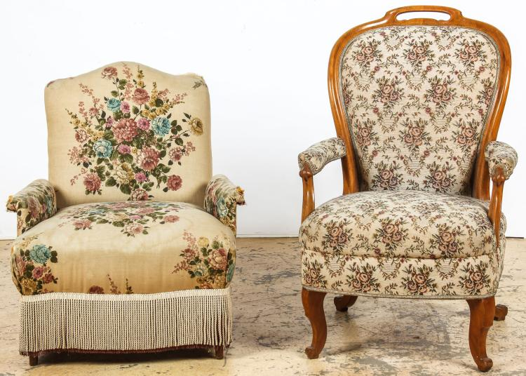 2 Continental Armchairs