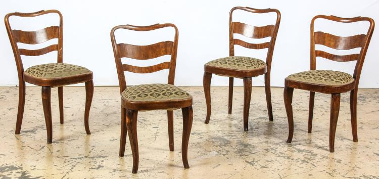 Set of 4 Continental Louis Philippe Style Dining Chairs
