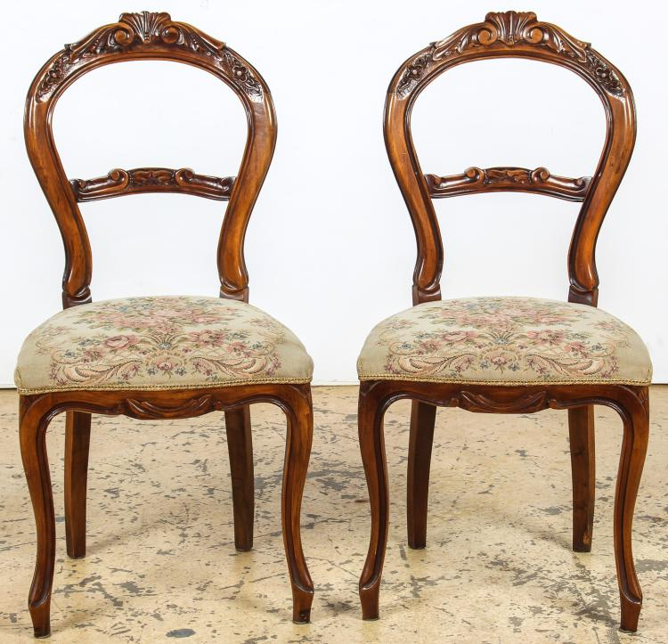 2 Louis Philippe Style Balloon Back Chairs