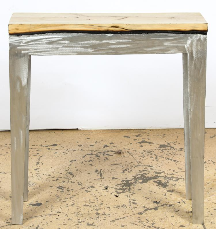 Hilla Shamia Style Wood Casting Console Table