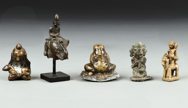 Assortment of Thai/Burmese Buddhas/Monks, 18th/19th C