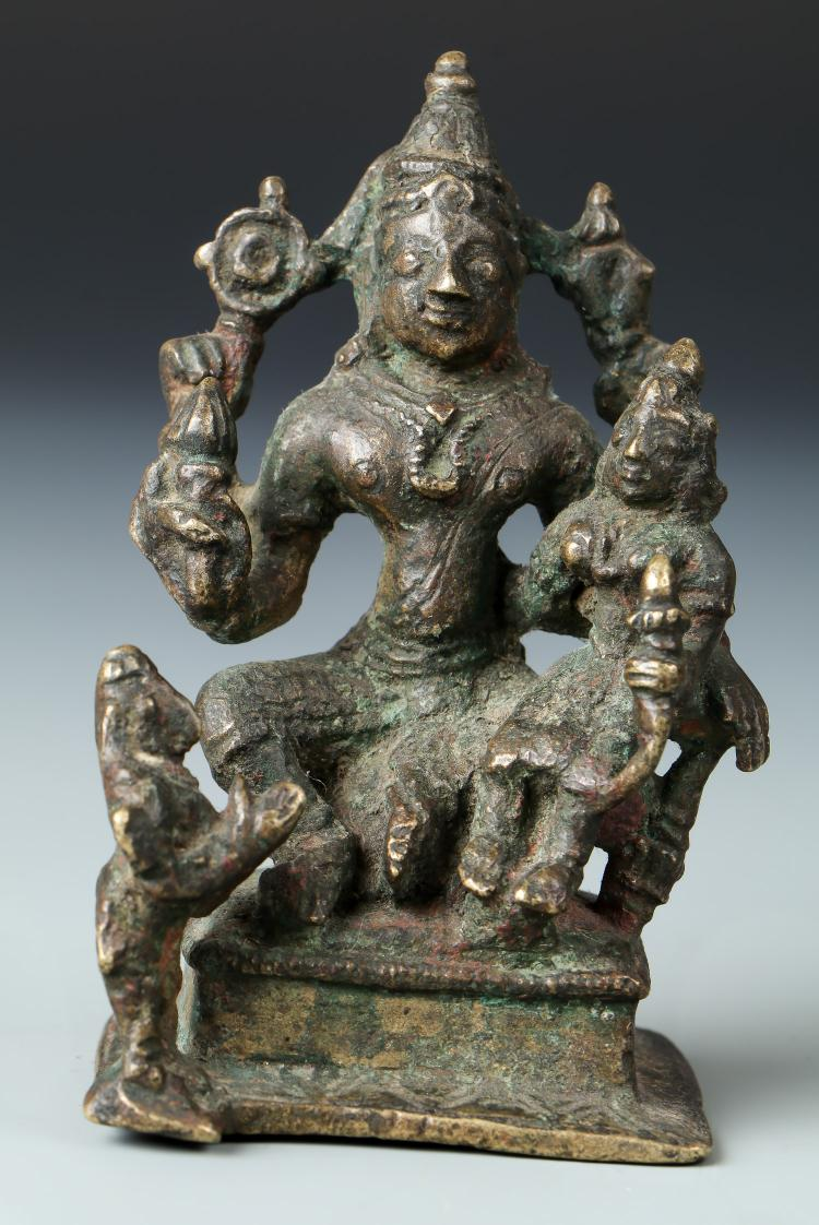 18th C. Indian Bronze Hindu Figural Group