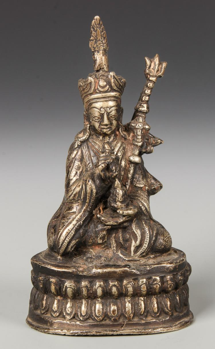 19th C. Bronze Statue of a Seated Monk, Nepal