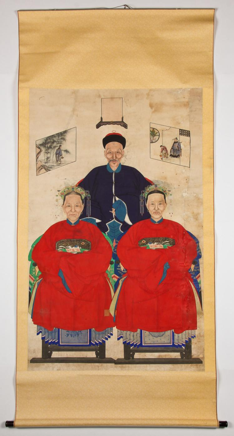 19th C. Chinese Ancestor painting
