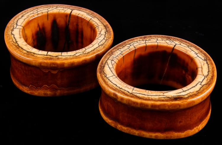 Pair of Antique Konyak Naga Ivory Armlets