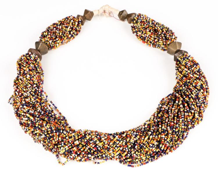 Old Naga Multi-Glass Beaded Necklace