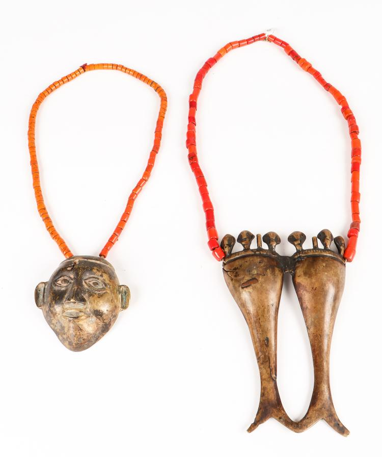 2 Naga Beaded Head Hunter Necklaces