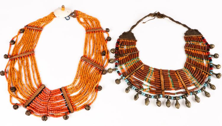 2 Fine Old Naga Beaded Necklaces