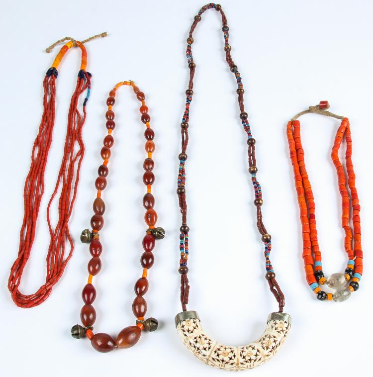 4 Strands Tribal Bead Necklaces