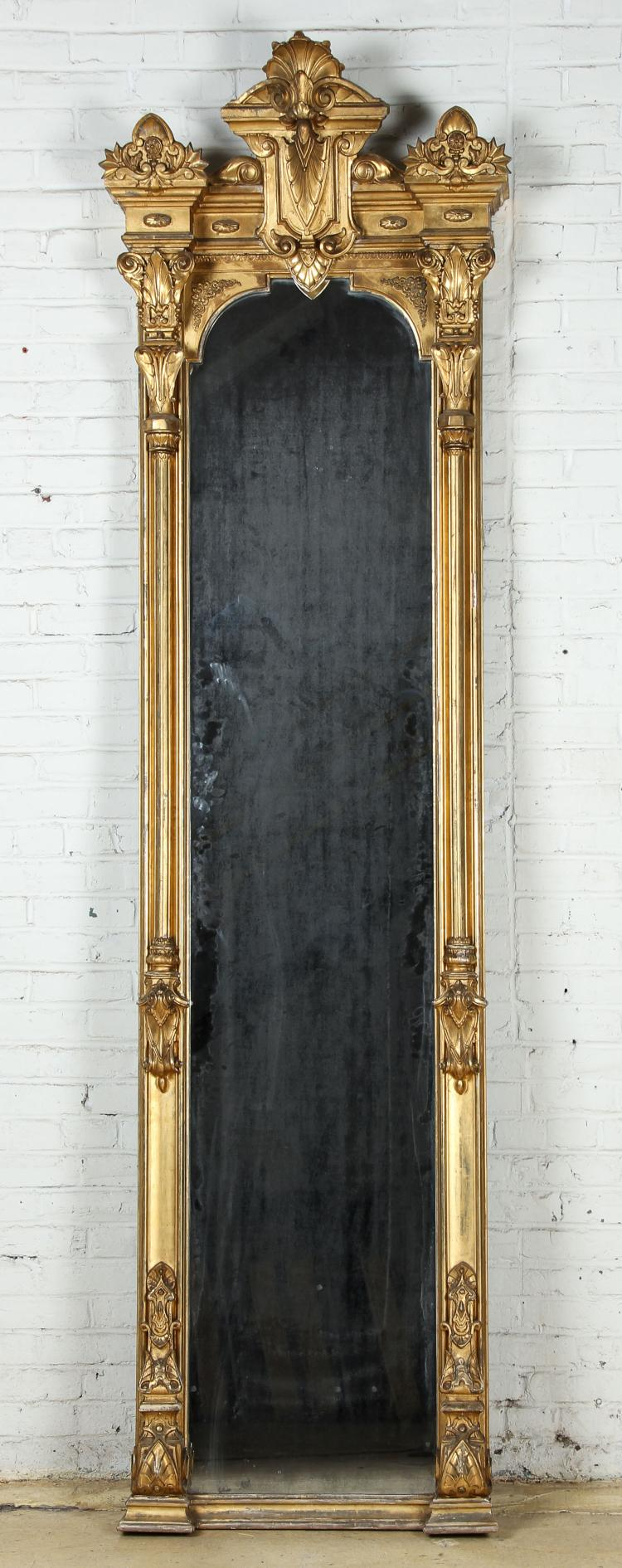 Tall Victorian Gilt Pier Mirror
