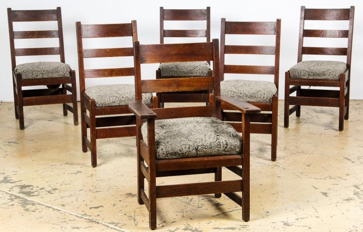 l jg stickley dining chairs