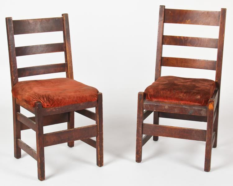 Pair Arts and Crafts Style Chairs