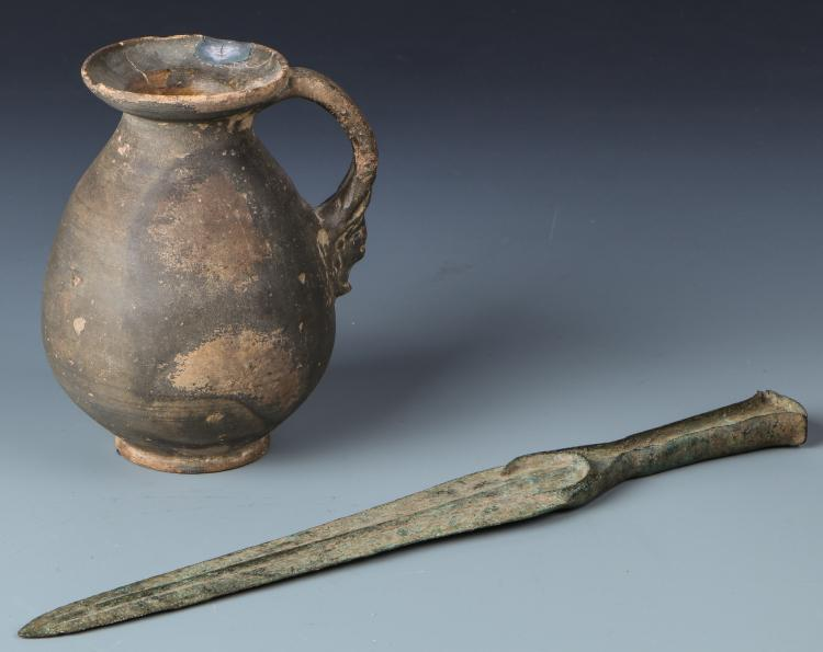 Luristan Flanged Dagger and Near East Ewer