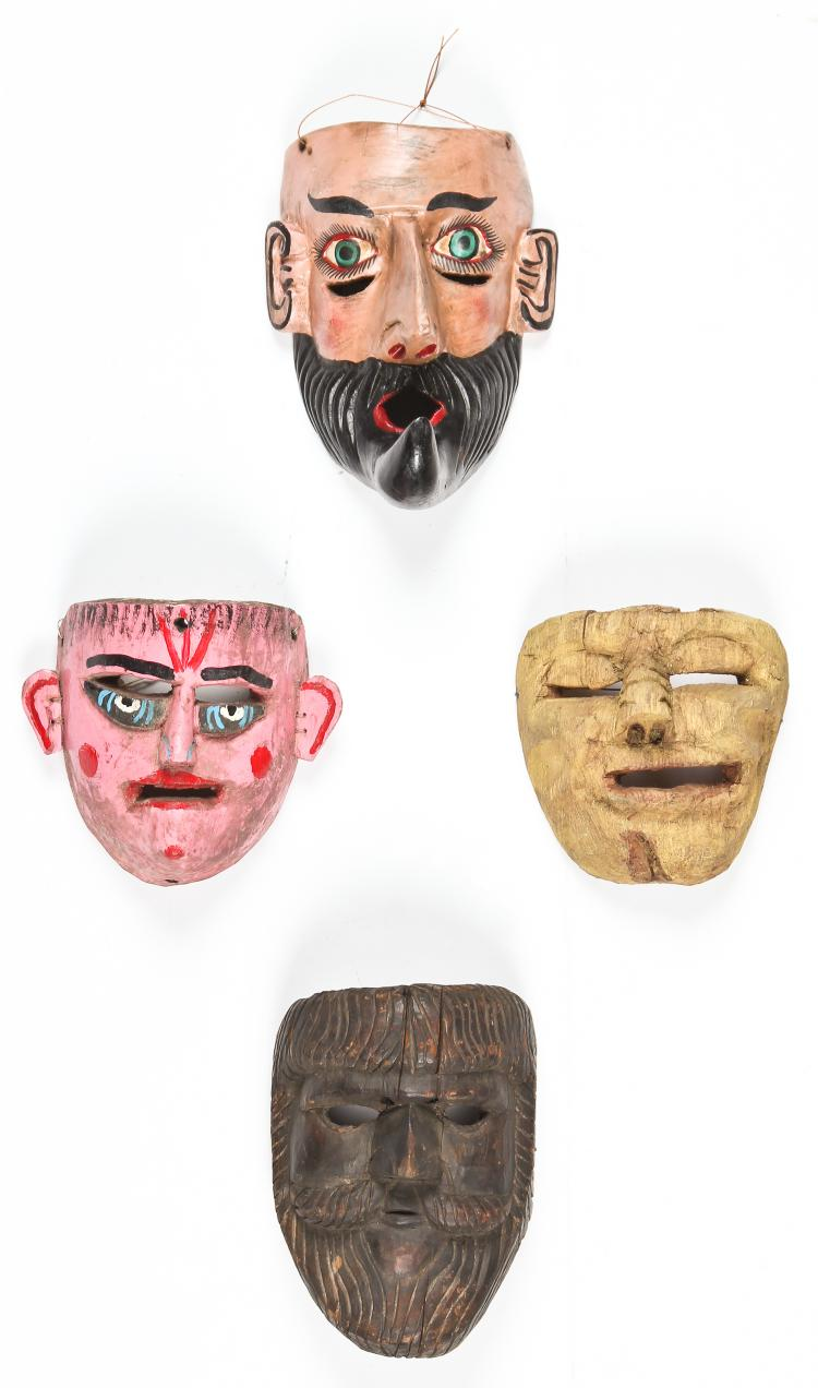 4 Vintage Mexican Masks