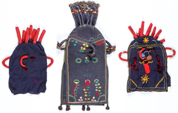 3 Ecuadorian Umo Diablo Hooded Masks