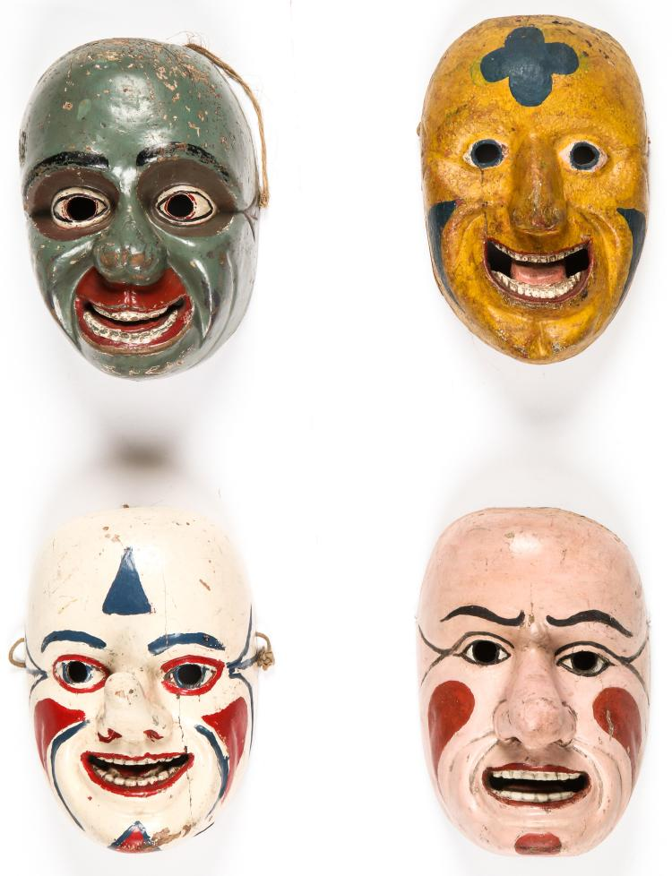 4 Rare and Fine Ecuadorian Masks