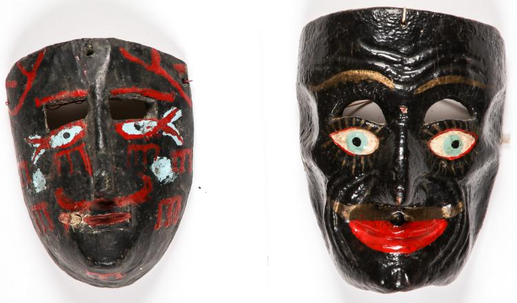 2 Mexican Festival Negritos Masks