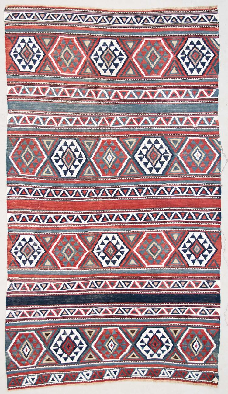 Antique Shirvan Kilim: 4'4
